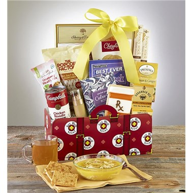 Greatfoods Get Well Gift Basket With Campbell'S Chicken Noodle Soup And Lemon Tea - Grand